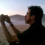 Nando, sunset at Praia do mar do fora