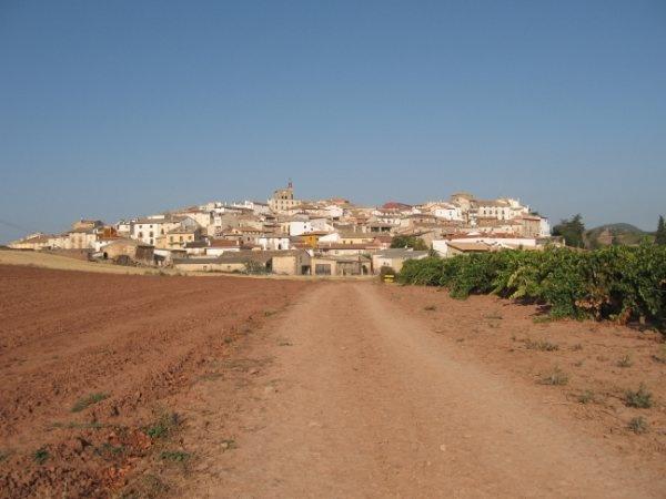 Approaching Cirauqui. Photo by Guylene