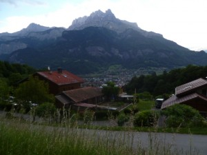 Sallanches, Aiguille Rouge from Levaud
