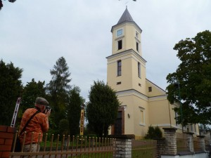 Church in Torzym where ancestral births and weddings were recorded